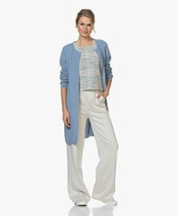 Sibin/Linnebjerg Mary Merino Blend Open Cardigan - Light Denim Blue