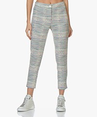 Josephine & Co Bella Tweed Broek - Print Sky Blue