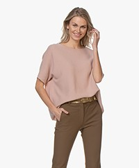 Sibin/Linnebjerg Portal Merino Mix Short Sleeve Sweater - Rose
