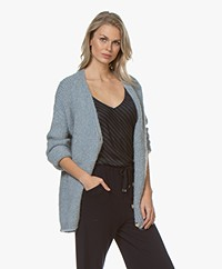 by-bar Mirjam Chunky Button-through Cardigan - Light Blue