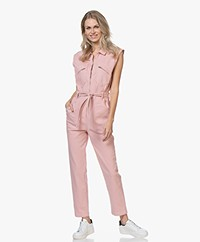 ba&sh Wally Cotton Twill Jumpsuit - Pink