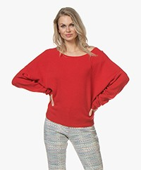 American Vintage Damsville Boat Neck Sweater - Redcurrant