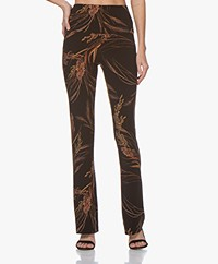 Norma Kamali Printed Boot Pants - Wheat & Barley