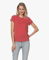 IRO Coolah Lyocell Mix T-shirt - Poppy Red