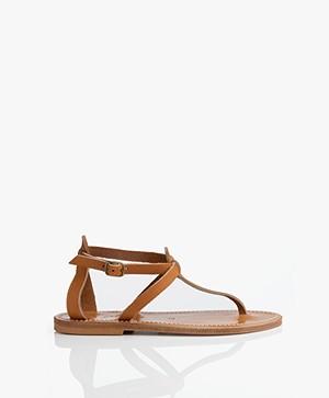 K. Jacques St. Tropez Buffon Leather Sandals - Natural