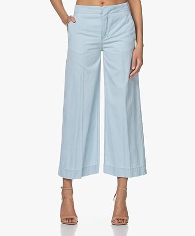 Drykorn Bonnet Denim Culottes Pants - Light Blue
