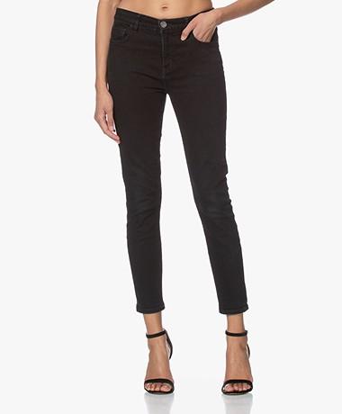 Current/Elliott The High Waist Stiletto Skinny Jeans - Black 0 Years Worn