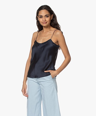 FRAME Simple Silk Camisole - Navy