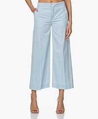 Drykorn Bonnet Denim Culottes Pants - Light Blue