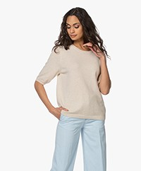 Sibin/Linnebjerg Bella Merino Blend Sweater with Half-length Sleeves - Kit