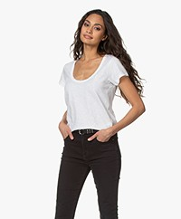 Rag & Bone Cotton U-neck T-shirt - White
