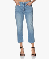 FRAME Le Beau Loose-fit Cropped Jeans - Walden Rock
