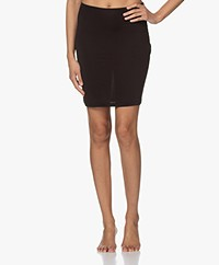 By Malene Birger Belana Microfiber Slip Skirt - Black