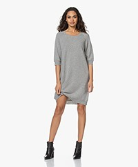 Sibin/Linnebjerg Amber Merino Wool and Cashmere Blend Dress - Grey Melange