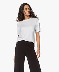 By Malene Birger Amatta Lyocell T-shirt - Pure White