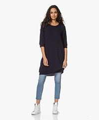 Sibin/Linnebjerg Amber Merino Wool and Cashmere Blend Dress - Navy