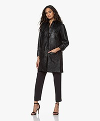 Zadig & Voltaire Rexy Leather Shirt Dress - Black