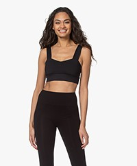 Norba Wave Sports Bra Top - Black