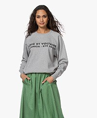 Zadig & Voltaire Upper ZV Address Sweater - Grey Melange