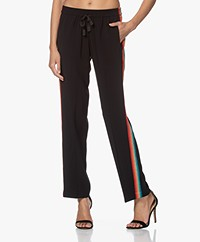 Zadig & Voltaire Poeme Crepe Satin Pants - Black