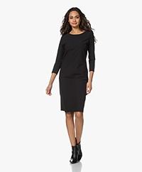 JapanTKY Pabel Travel Jersey Dress - Deep Black