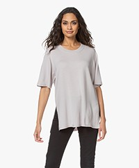 Wolford Aurora Cradle-to-Cradle Short Sleeve Sweater - Mustang Grey