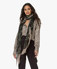 Zadig & Voltaire Delta Camouflage Leopard Scarf - Sable