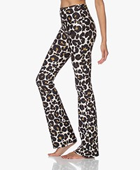 Deblon Sports Celine Flared Leggings - Leopard Off-white