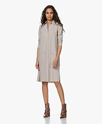 JapanTKY Kata Travel Jersey Shirt Dress - Sand