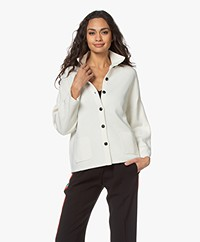 Sibin/Linnebjerg Spring Milano Button-through Cardigan - Off-white