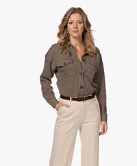 Josephine & Co Tonya Jacquard Houndstooth Shirt - Brown