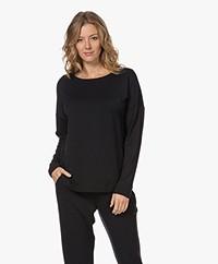 HANRO Balance Viscose Jersey Long Sleeve - Black