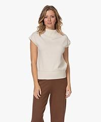Josephine & Co Toon Merino Short Sleeve Sweater - Off-white