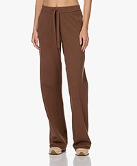 Josephine & Co Tycho Cotton Blend Knitted Pants - Brown