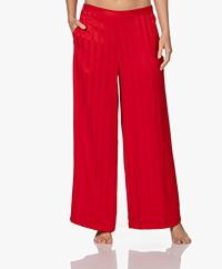 Calvin Klein Jacquard Striped Pajama Pants - Rustic Red