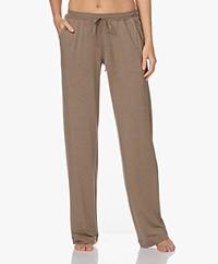 HANRO Natural Elegance Jersey Lounge Pants - Khaki Melange