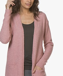 BY-BAR Nisa Mid Length Open Cardigan - Ash Rose