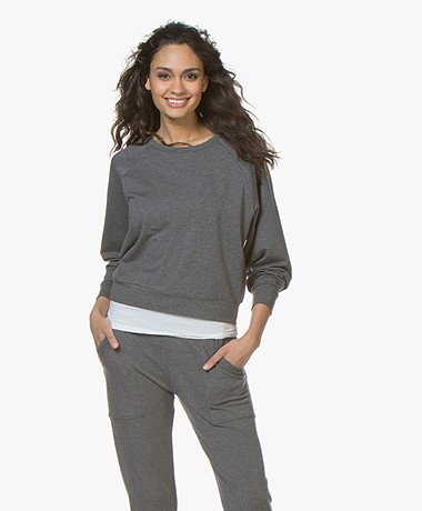 Filippa K Soft Sport Light Terry Sweatshirt - Grey Melange