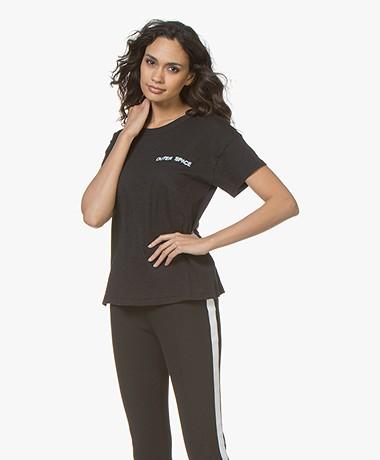 Rag & Bone Outer Space Emblem Vintage T-shirt - Zwart