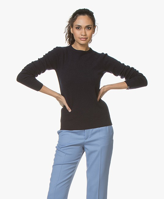 extreme cashmere N°41 Body Basic Cashmere Trui - Navy