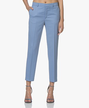 Filippa K Emma Cropped Twill Pantalon - Paris Blue