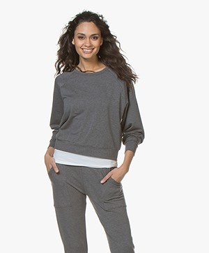 Filippa K Soft Sport Light Terry Sweatshirt - Grijs Mêlee