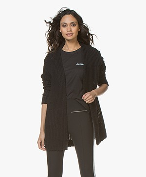 Rag & Bone Arizona Merino Open Cardigan - Black