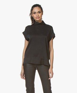 By Malene Birger Candillon Silk Blouse Top - Black