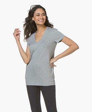 By Malene Birger Fevia  Stretch-blend T-shirt - Grey Melange