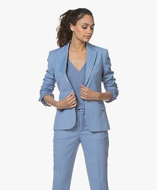 Filippa K Sasha Twill Blazer - Paris Blue