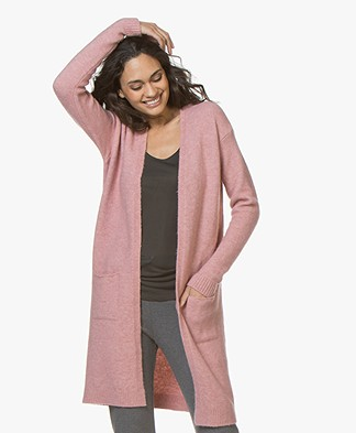 BY-BAR Nisa Long Open Cardigan - Ash Rose