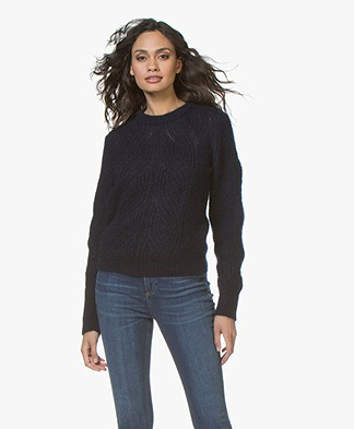 Filippa K Soft Mohair R-Neck Sweater - Navy