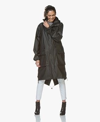Maium 2-in-1 Parka Rain Coat - Black