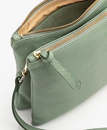 Closed Duo Leather Shoulder Bag - Grass Green